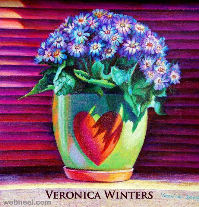 flower drawing color pencil | coloured pencils | Pinterest ...