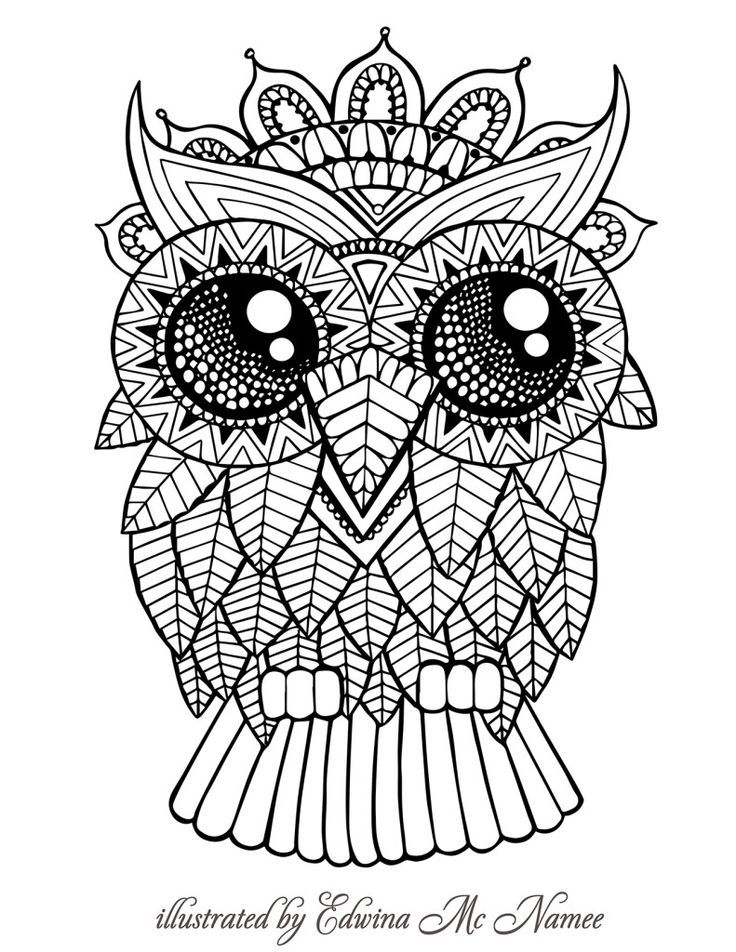 Kurby Owl - Colour with Me HELLO ANGEL - coloring, design, detailed ...