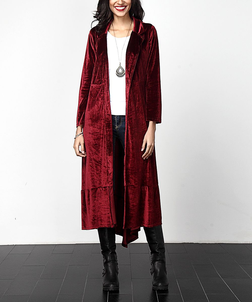 Red Velvet Open Maxi Cardigan | Maxis, Cardigans and Maxi cardigan