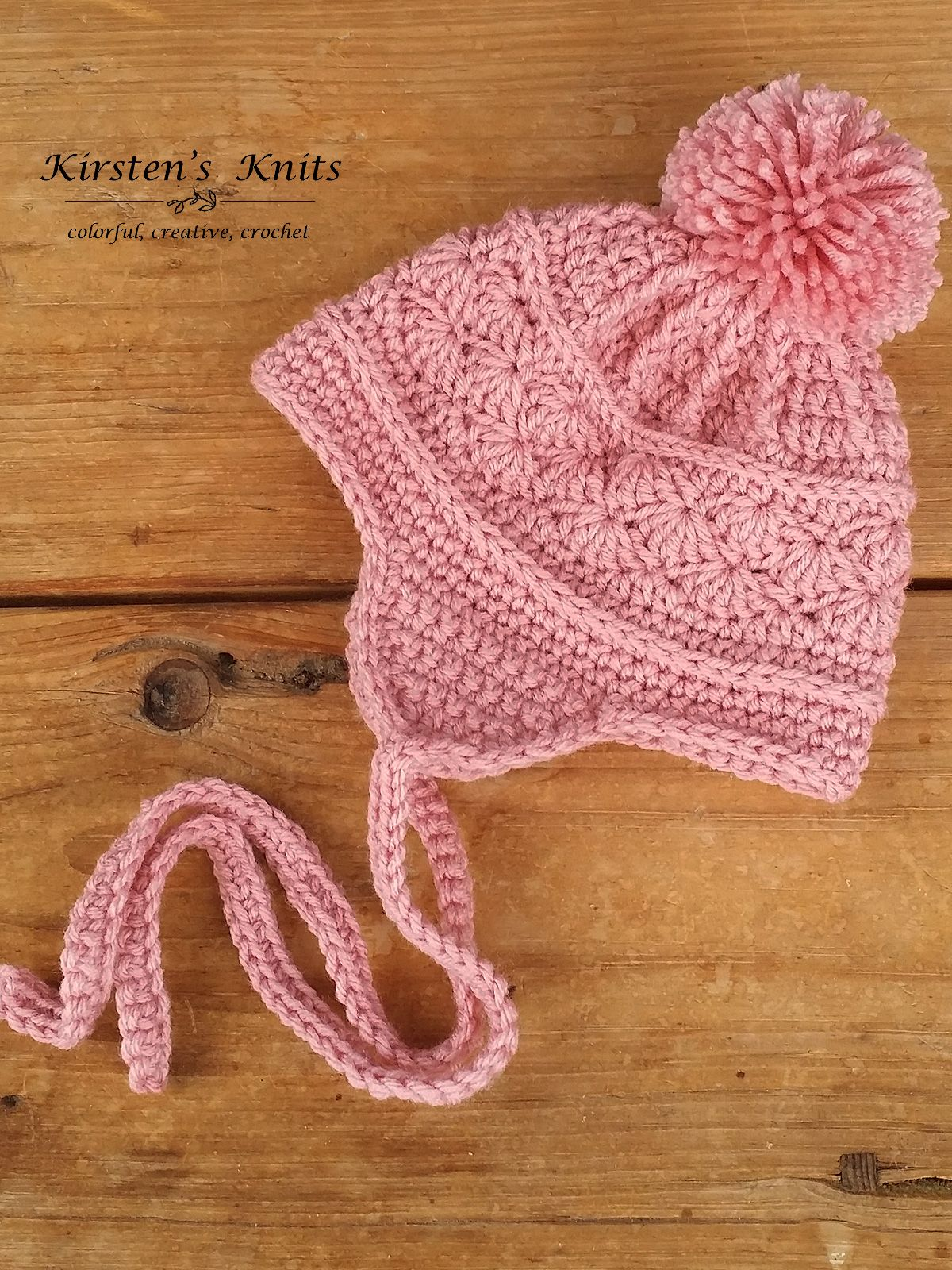 Pattern La Vie En Rose Earflap Hat Crochet Love Pinterest
