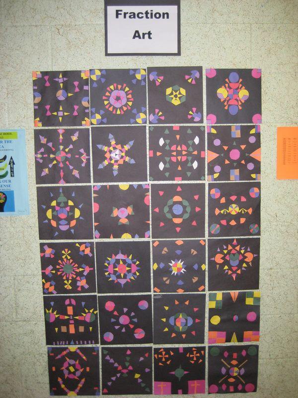 Fraction Art Mrs Haasen S Grade 5 6 Fraction Art Math