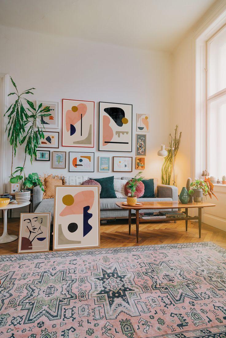 Modern minimalist art prints by Jan Skacelik used as a ...