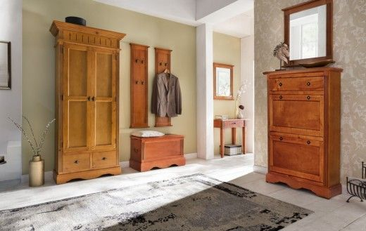 dielen set 6 teilig gotland braun pinie massiv flur moebel garderoben schrank rustikale m bel. Black Bedroom Furniture Sets. Home Design Ideas