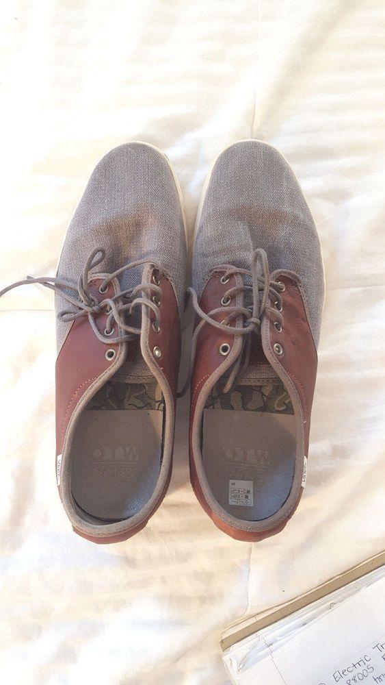 6a600fbe622 VANS OTW Ludlow (Military) Bungee Leather Men s Skate Shoes 11.5 Grey  Canvas  VANS  Skateboarding