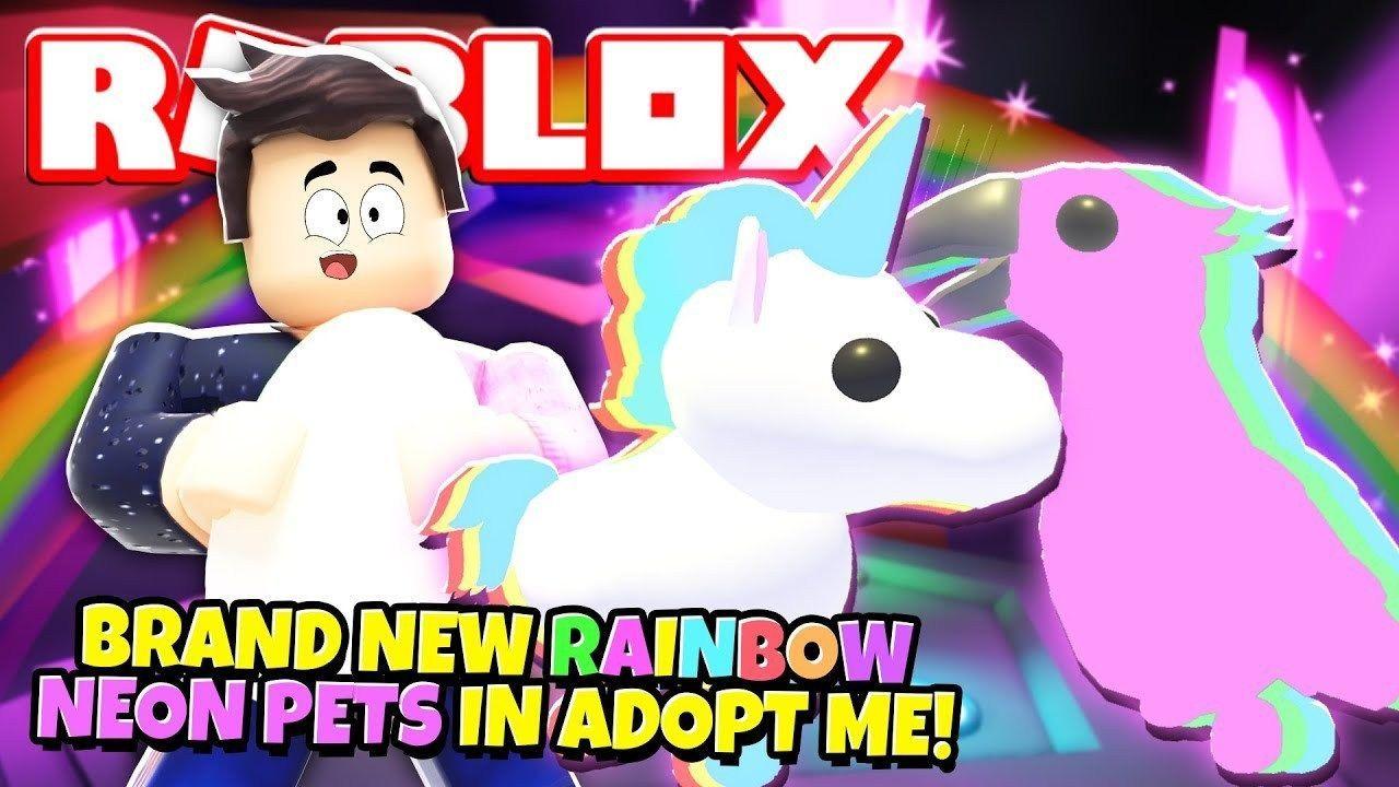 We Got RAINBOW NEON PETS in Adopt Me! NEW Adopt Me Rainbow