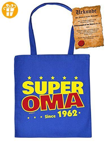 Geschenk zum 54. Geburtstag Einkaufstasche als Geburtstagsgeschenk Super Oma since 1962 - Geschenkidee 54 Geburtstag 54 Jahre Mitbringsel Geschenkartikel - Shirts zum geburtstag (*Partner-Link)