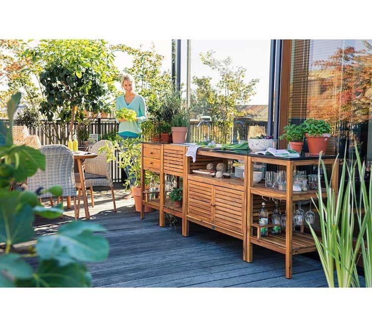 Schrank Southampton 100 X 50 X 90 Cm Outdoor Dekorationen Garten Akazienholz