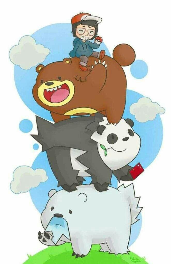 Pin By Bmano22 On Nintendo Games Bear Pokemon Pokemon We Bare Bears Wallpapers