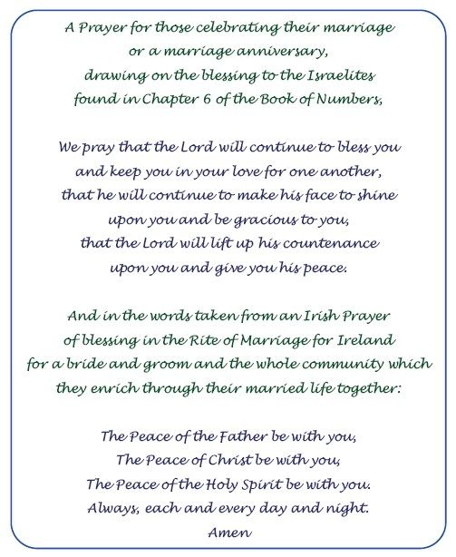 Catholic Marriage Prayer