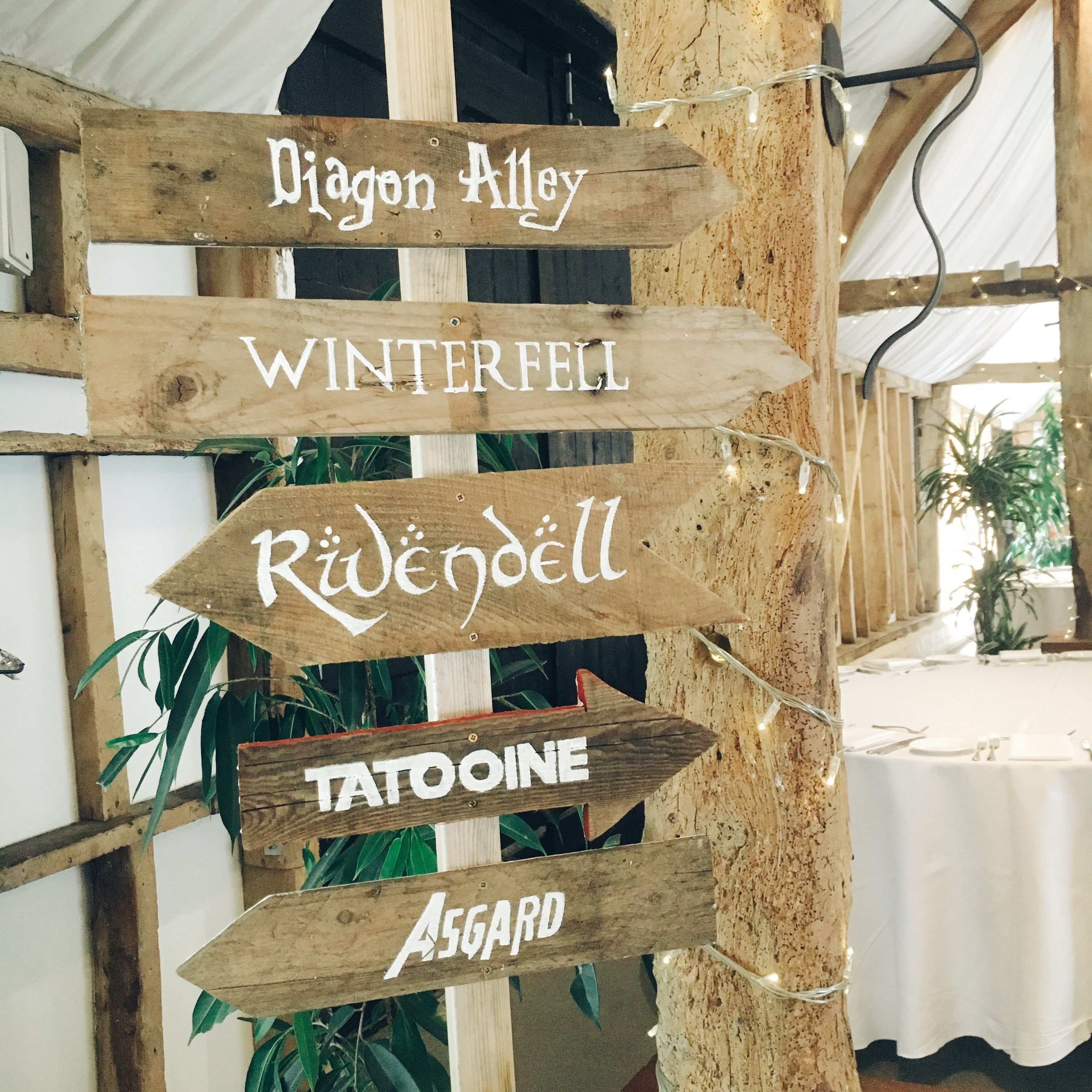 Harry Potter Lord Of The Rings Wedding Signage Made By Fleur De