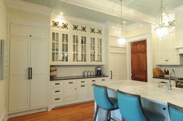Glass Cabinet Doors With Diamond Mullion Pattern Kitchens