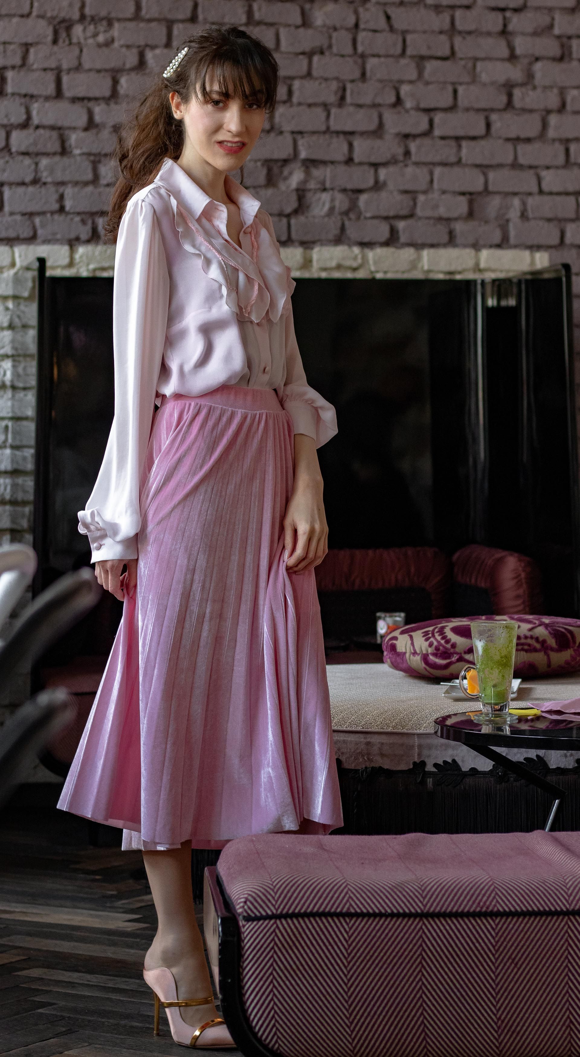 8 Ladylike Easter Brunch Outfit in Pink  Brunette from Wall