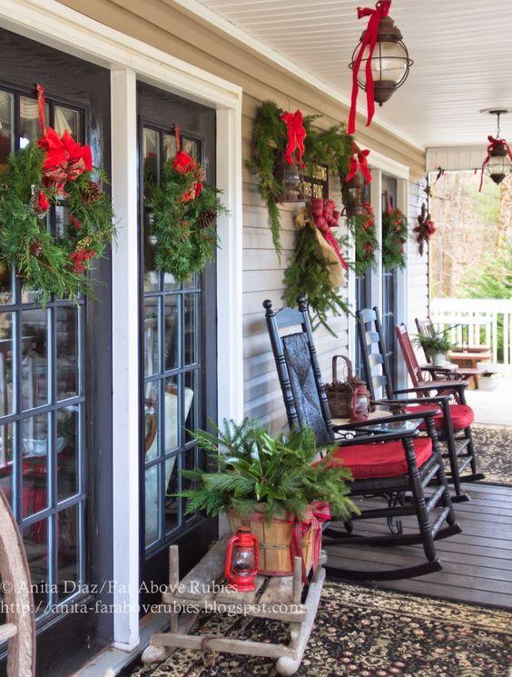 Ideas para decorar tu porche esta navidad 2017 Pinterest Porch - decoracion navidea para exteriores de casas