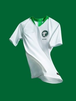 af80d5ec2 2018 World Cup Jersey Saudi Arabia Home Replica Football Shirt  BFC817