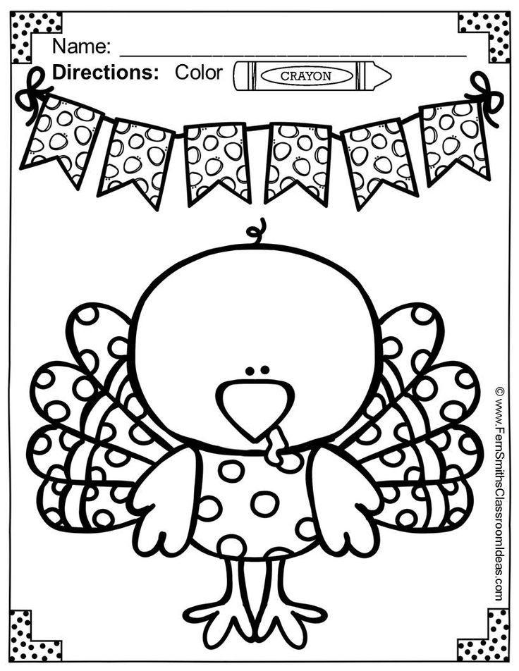 Thanksgiving Coloring Pages | Colorear, Maestros y Escuela