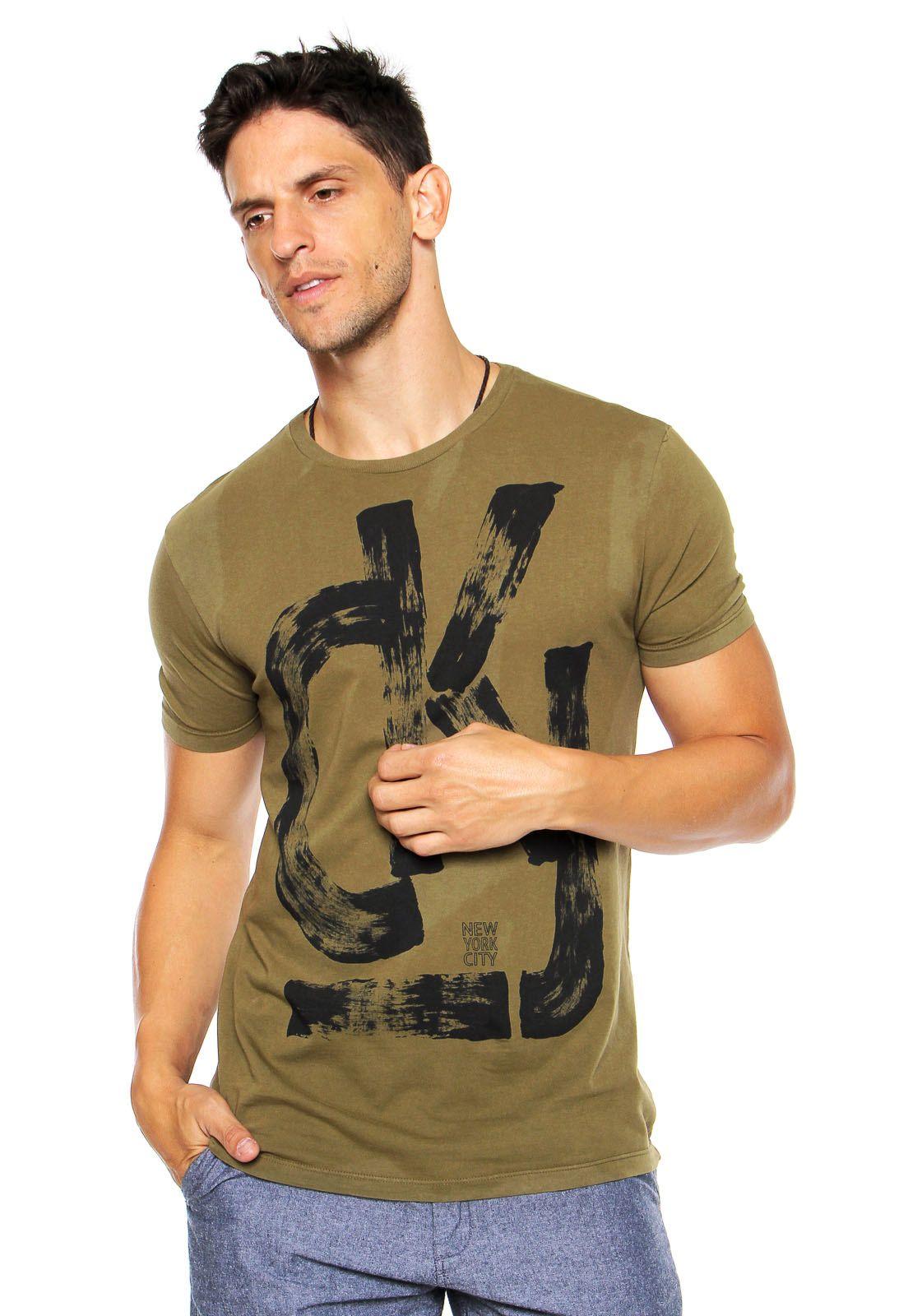 5e3c2079679f1 Camiseta Calvin Klein Jeans Estampada Verde - Compre Agora