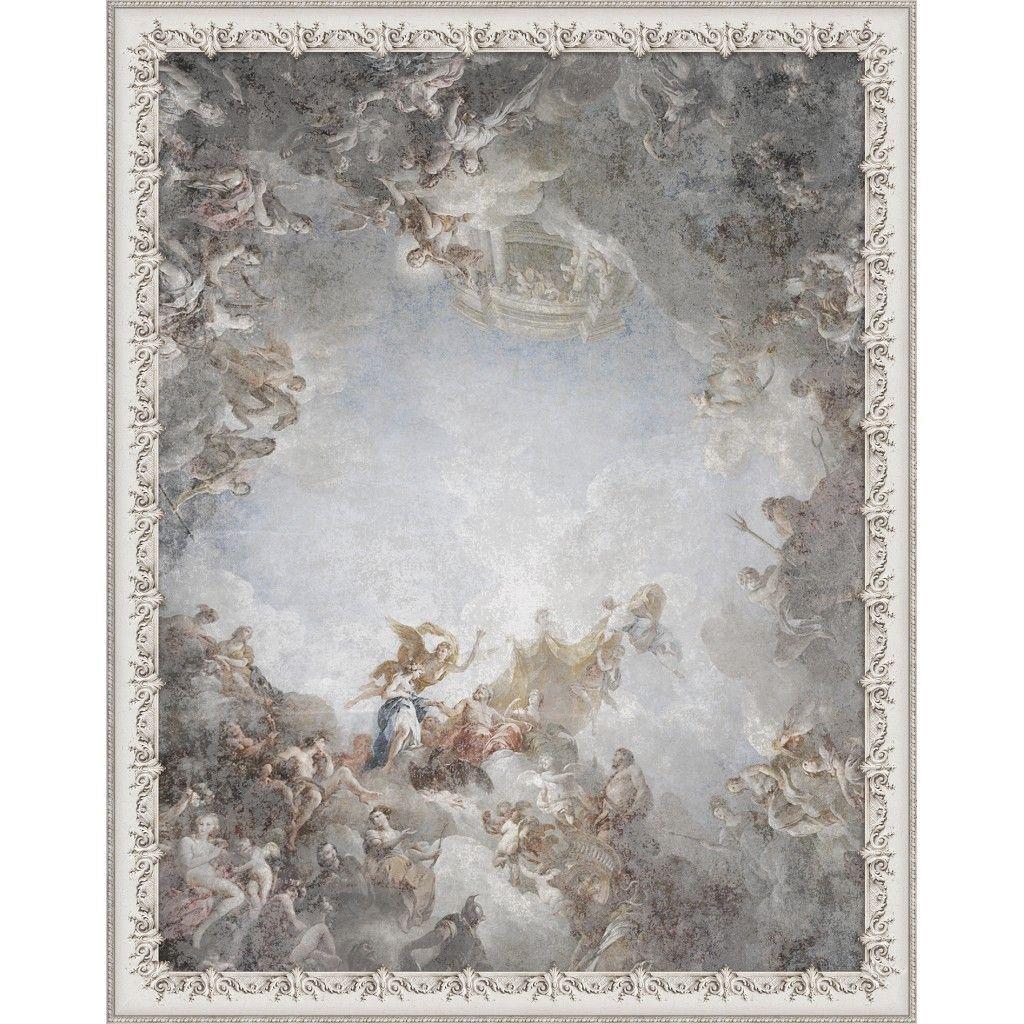 Papier Peint Trompe L Oeil Plafond papier peint panoramique plafond de versailles | papier