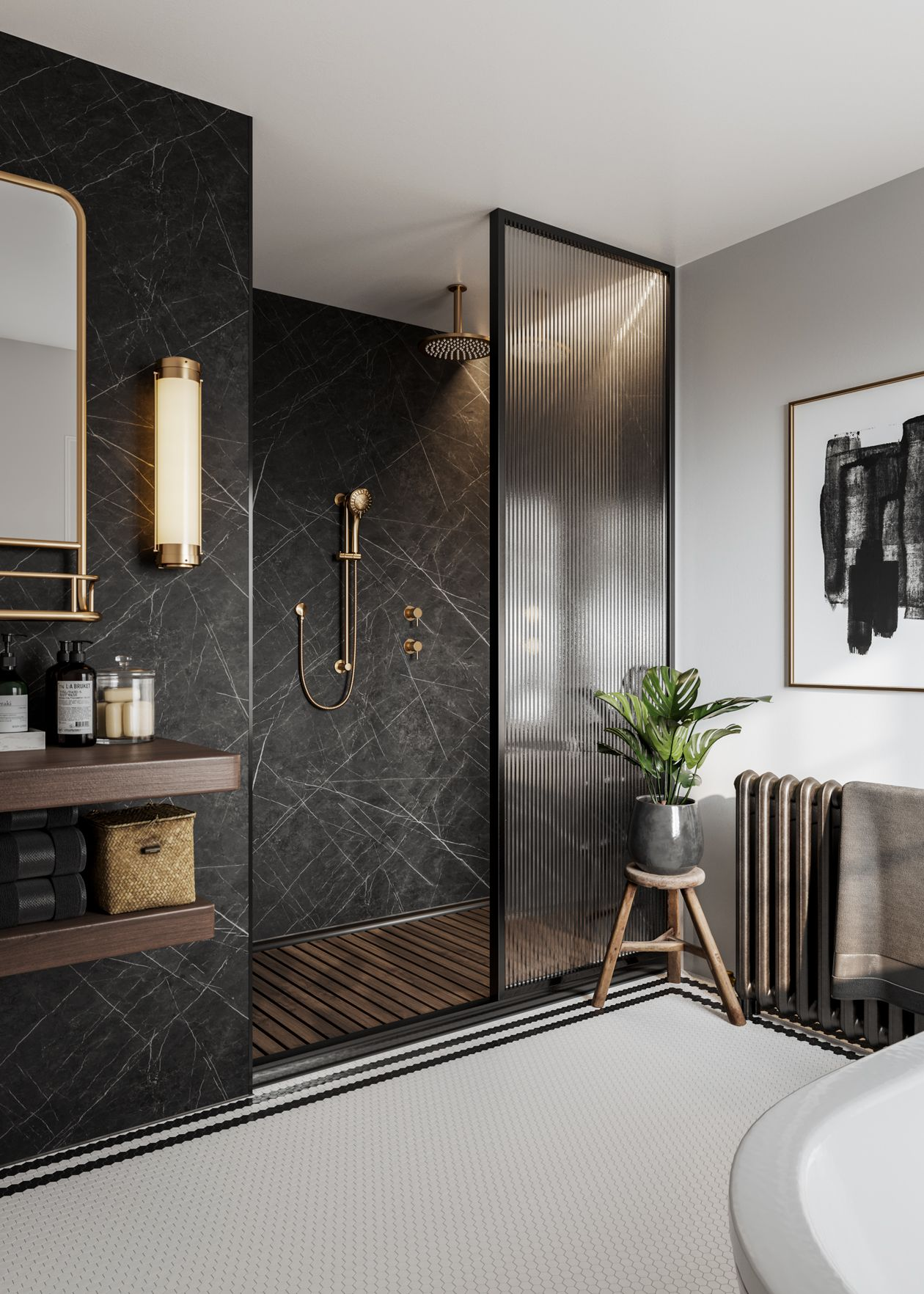 Black Marble Bathrooms In 2020 Black Marble Bathroom Bathroom Design Luxury Bathroom Interior Design
