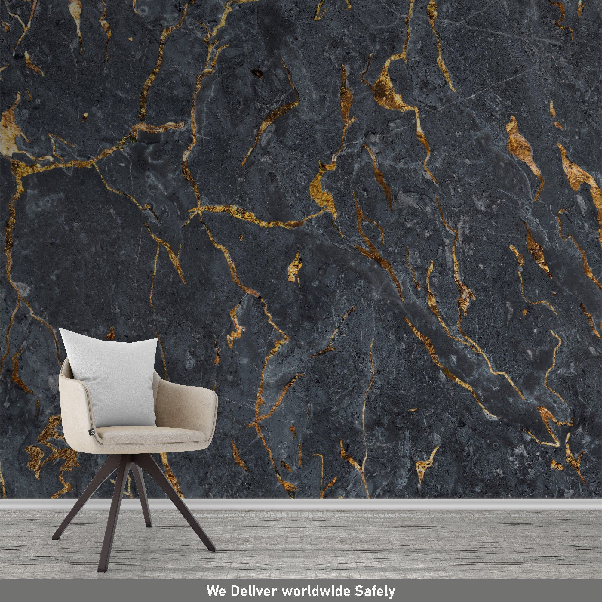 Black Marble Peel And Stick Wallpaper Etsy Marble Wallpaper Vinyl Wallpaper Peel And Stick Wallpaper