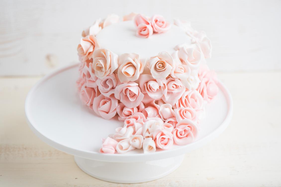 Нежный торт с розами из мастики. Romantic cake with roses ...