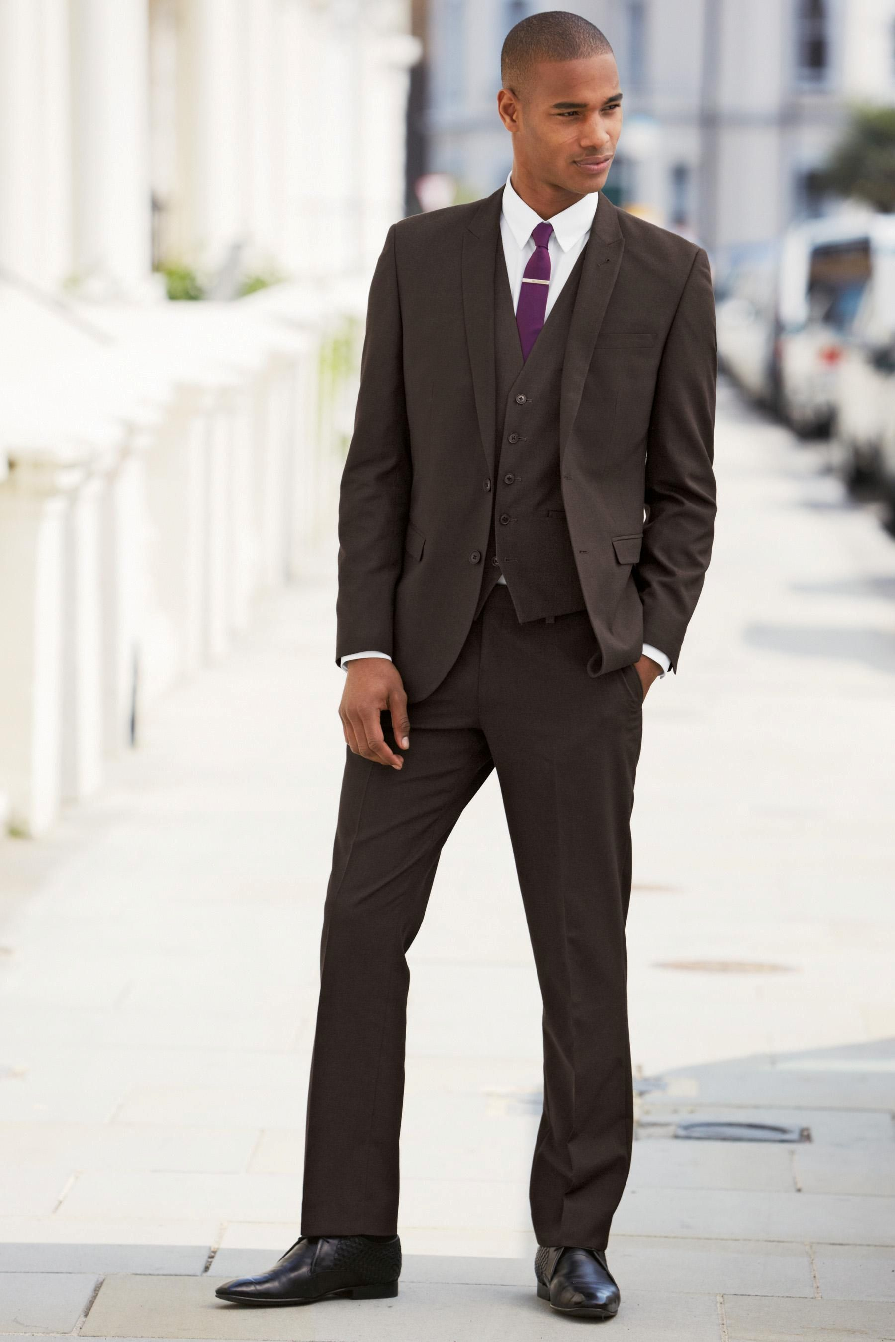 Buy Brown Regular Fit Suit: Jacket from the Next UK online shop