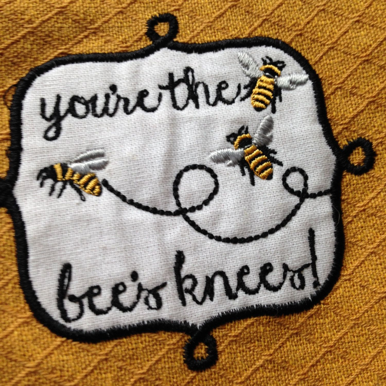 Kitchen Towel Hanging Topper - You\'re The Bee\'s Knees - Hanging ...