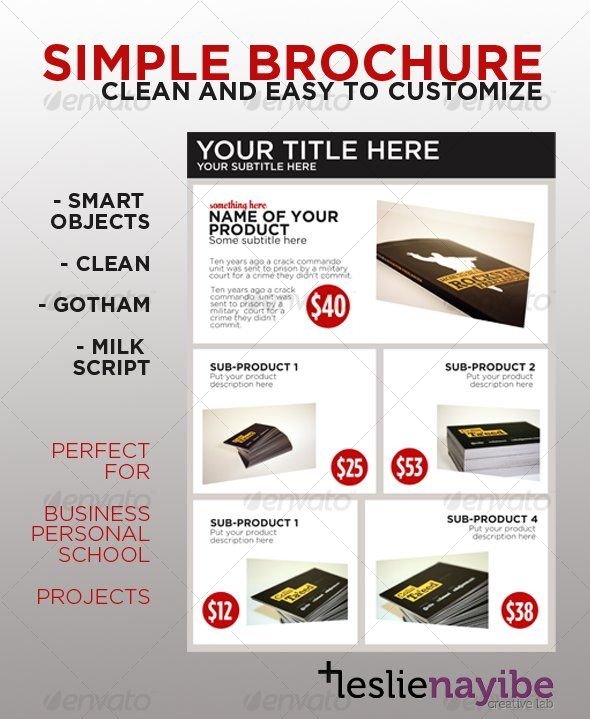 Simple Brochure Brochures Brochure Template And File Format - One page brochure template free