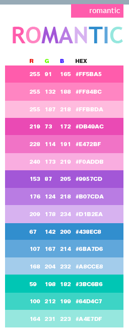 pastel blue cmyk code for pink
