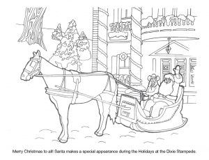 Dixie Stampede Coloring Sheet Christmas In July Christmas In July Dixie Stampede Coloring Sheets