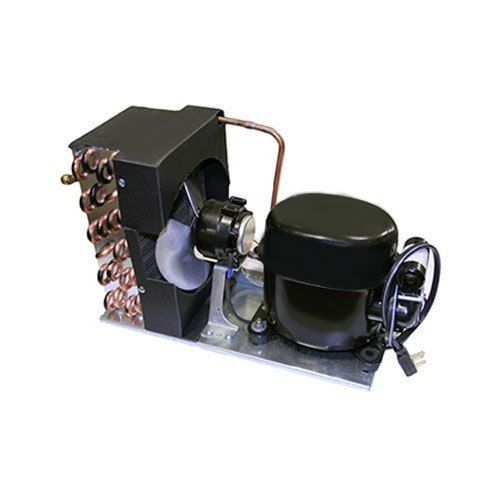 This True 950663 condensing unit is a complete package that allows you to replace all of the condensing components at once for maximum efficiency. The condensing unit components work together to ensure that the gas and liquid refrigerant cycles properly through your unit, keeping it cool. <br><br><b><u>Kit Includes:</b></u><br> - Compressor<br> - Relay<br> - Overload<br> - Fan blade<br> - Condenser coil<br> - Motor<br> - Condenser shroud<br> - Drier<br> - Power cord