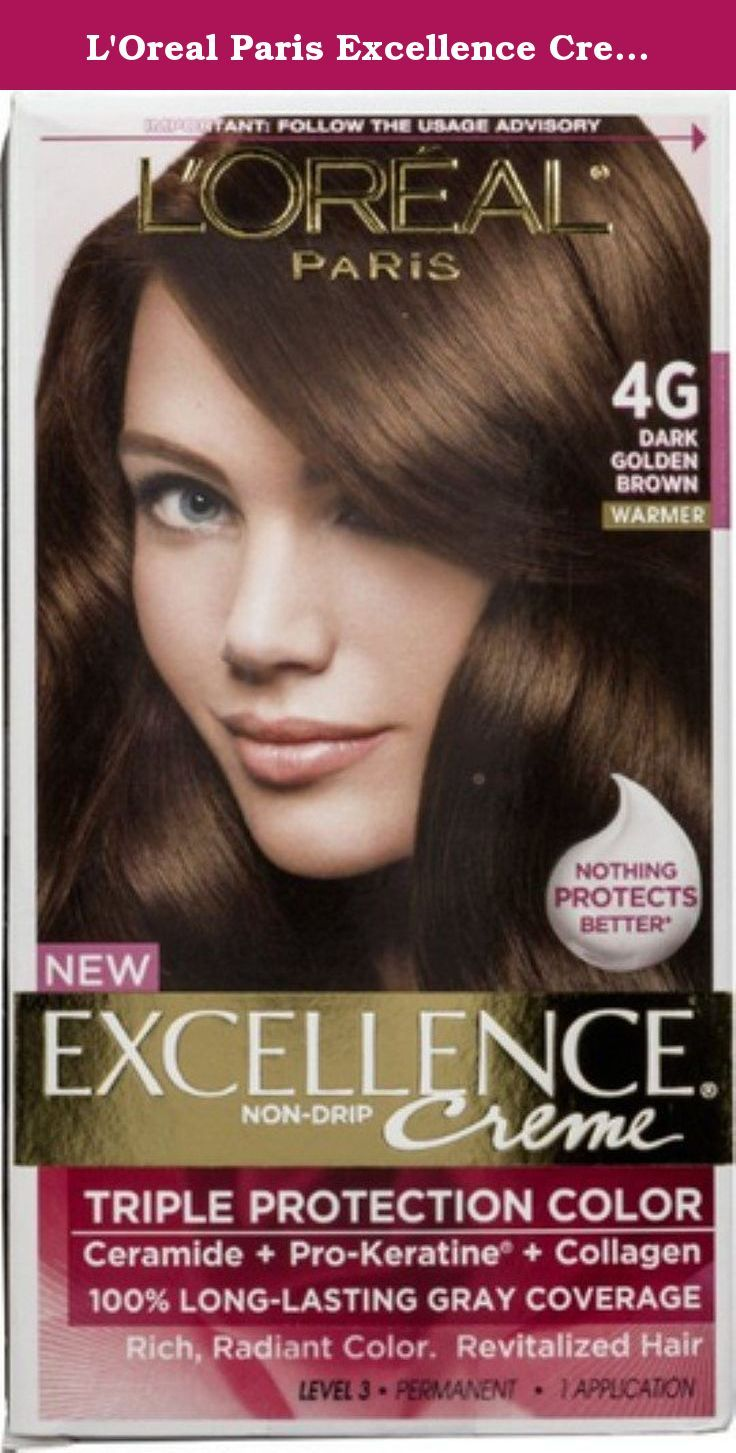 L Oreal Paris Excellence Creme Hair Color Dark Golden Brown 4g Pack Of 4 For Soft Luminous Streaks Of Light Discov Loreal Loreal Paris L Oreal Creme Gloss