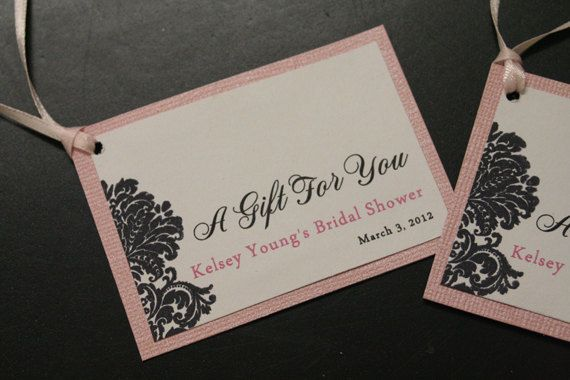 Wedding Favor Tags, Bridal Shower Favor Tags, Shabby Chic ...