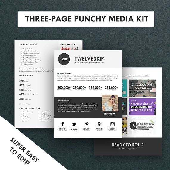 Minimalist Media Kit Template Press Kit  Pages  Media Kit
