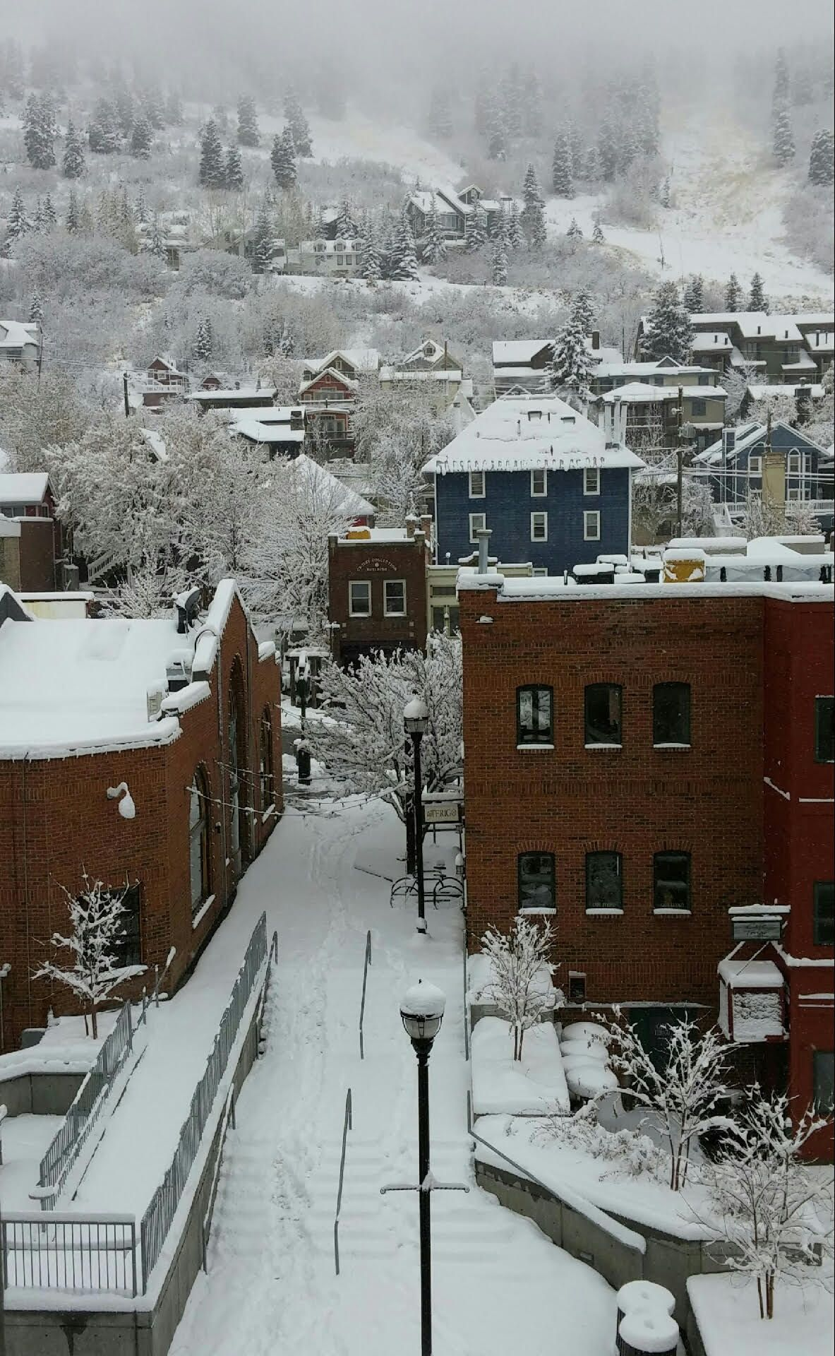 First Snowy Day in Park City