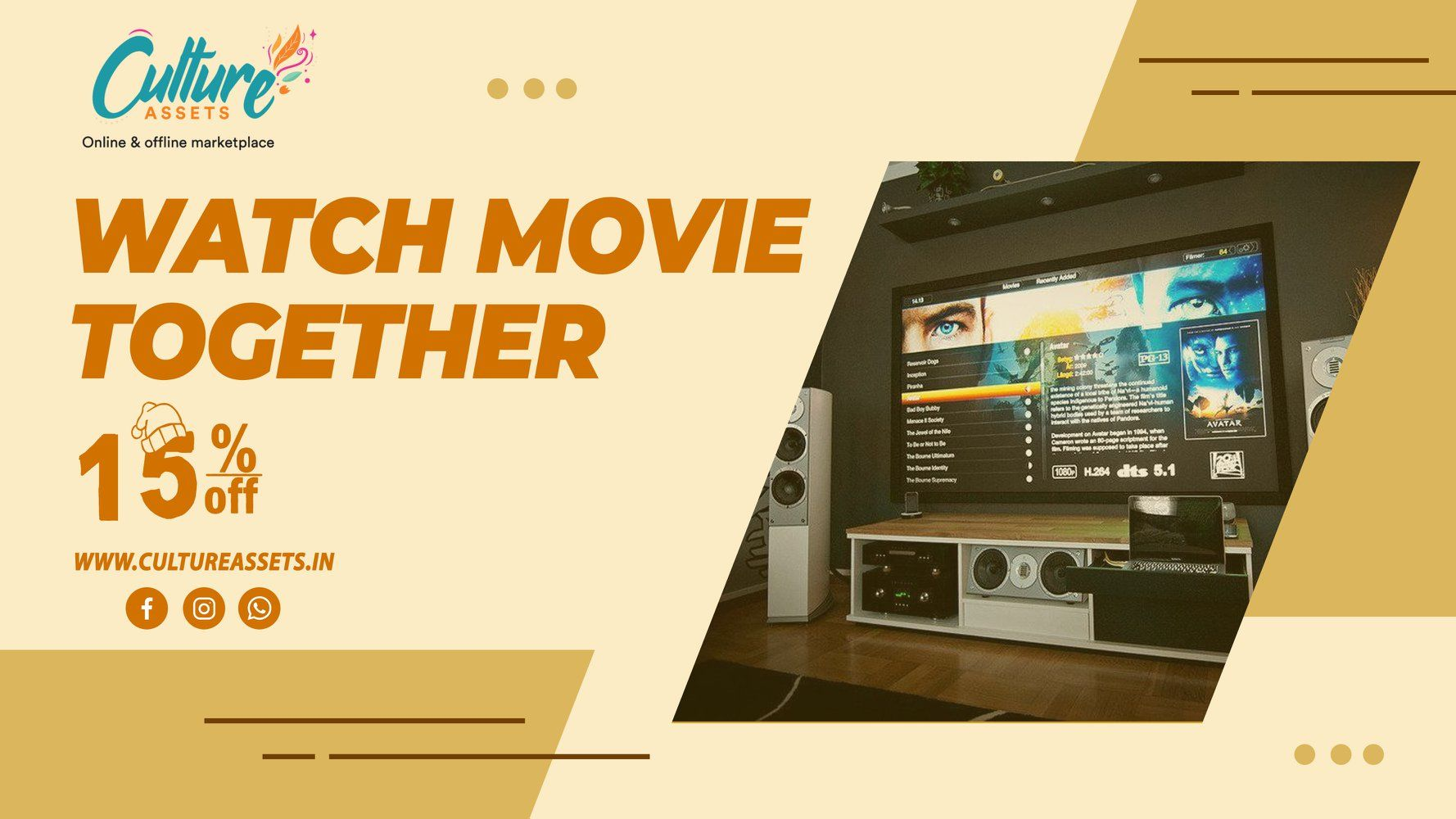 Buy Home Theater System Online on Culture Assets. . . . . #hometheatersystem #hometheater #hometheaterdesign #hometheaterroom #mediaroom #hometheatersetup #hometheaterdecor #hometheaters #homecinema #cinemaroomdesign #htmartfeature #cinemaroomideas #hometheaterexpert #mediaroomdecor #mediaroomhub #hometheatermart #hometheaterstyle #moviefan #mediaroomdesign #htmart #mediaroomfurniture #mediaroompro #cinemaroom #mediaroomideas #hometheaterlife #mancave