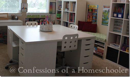 Our Home School Room 2012 2013 Homeschool Rooms School Desks School Room