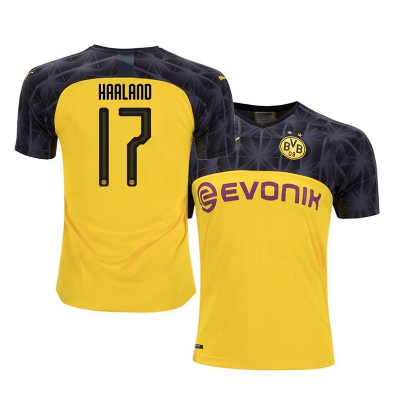 Borussia Dortmund 2019 20 Erling Haaland Ucl Bvb Jersey In 2020 Soccer Shirts Dortmund Soccer Jersey