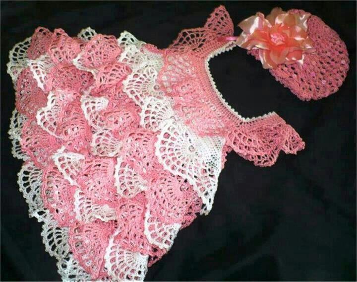 Croche pro Bebe: Vestidinhos achados na net,pura inspiração ...
