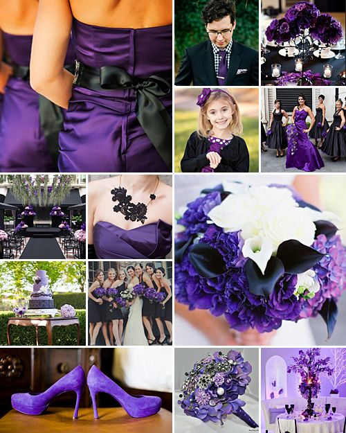 Black Purple Wedding Inspiration Purple Black Wedding Wedding