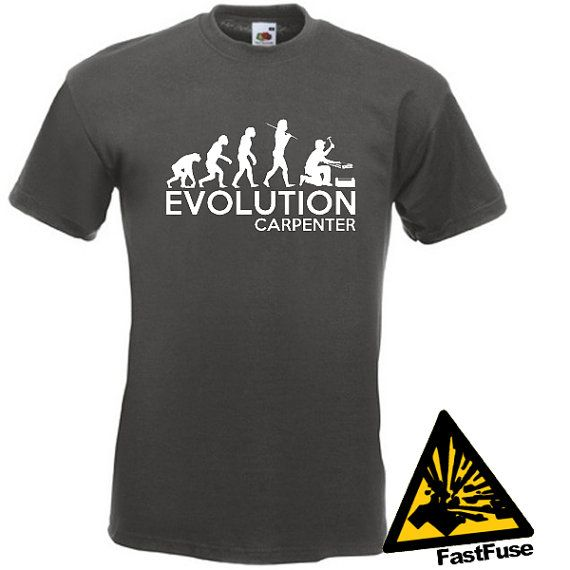 dea37ed80 Evolution Of Man From Ape To Carpenter T-Shirt Joke Funny Tee T ...