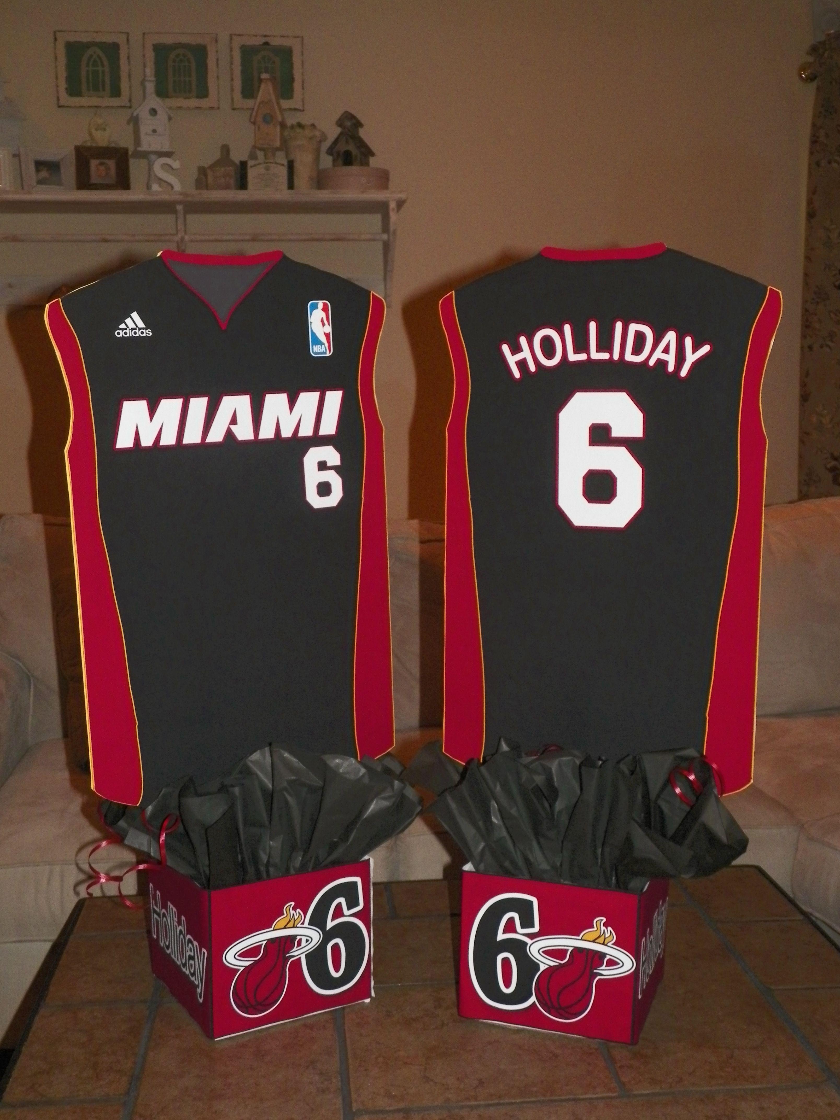 Miami Heat Basketball Jersey Centerpiece Birthday Party