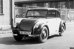 Prototipo Daimler-Benz 120 H con motor boxer trasero, Heckmotor  (Diseño de Hans Nibel y Max Wagner. Consultor Josef Ganz) 1931-1932