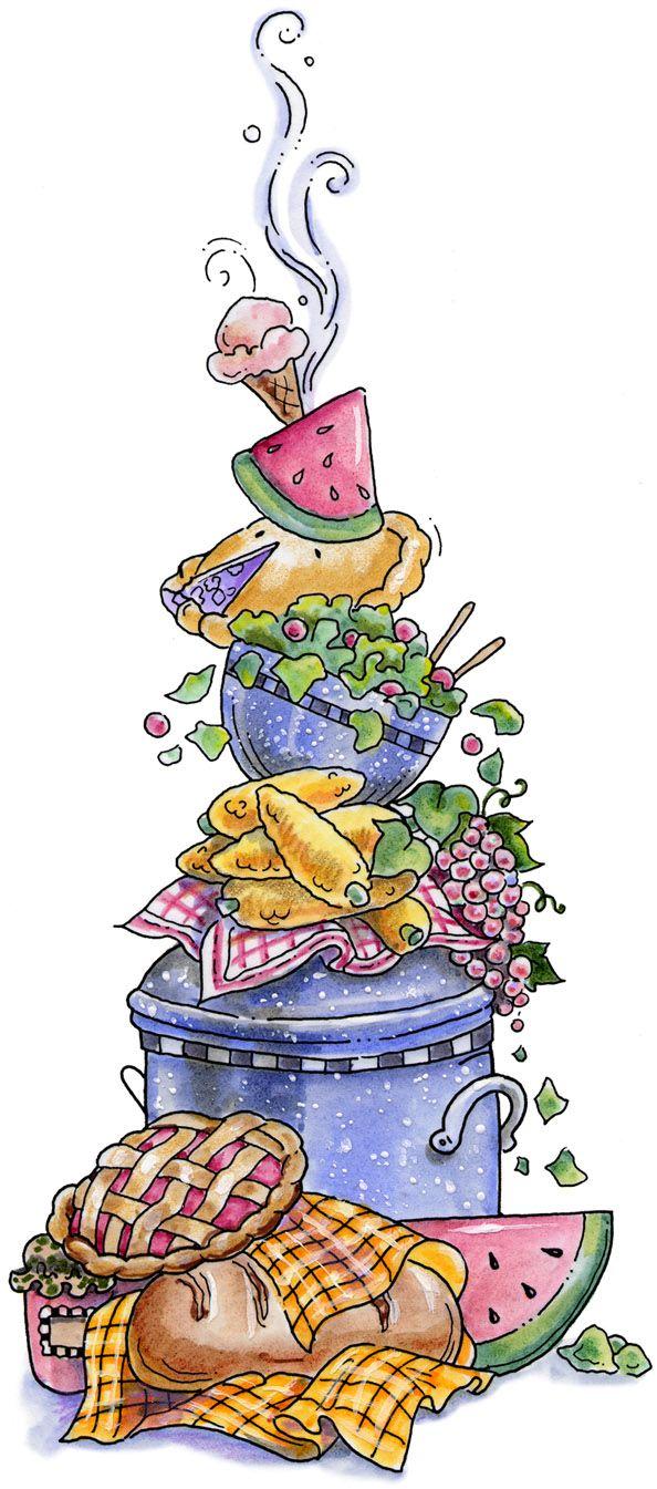 Picnic Cook Clipart Ice Cream Fancy Recipe Cards