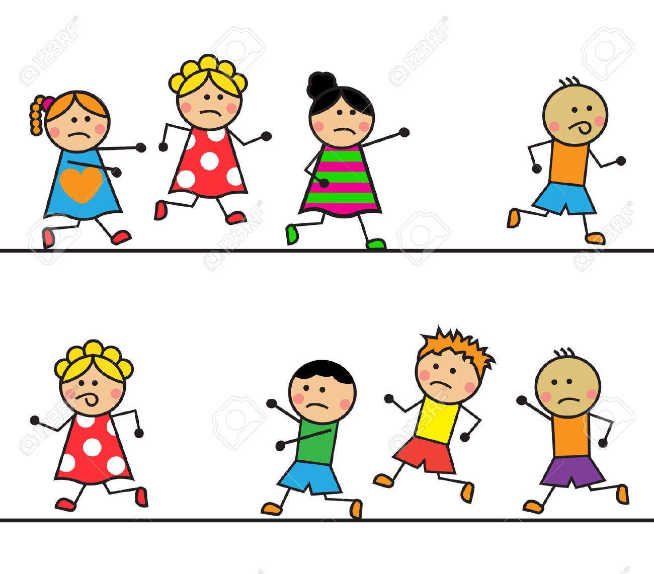 niños corriendo dibujo animado - Buscar con Google   fondos ...