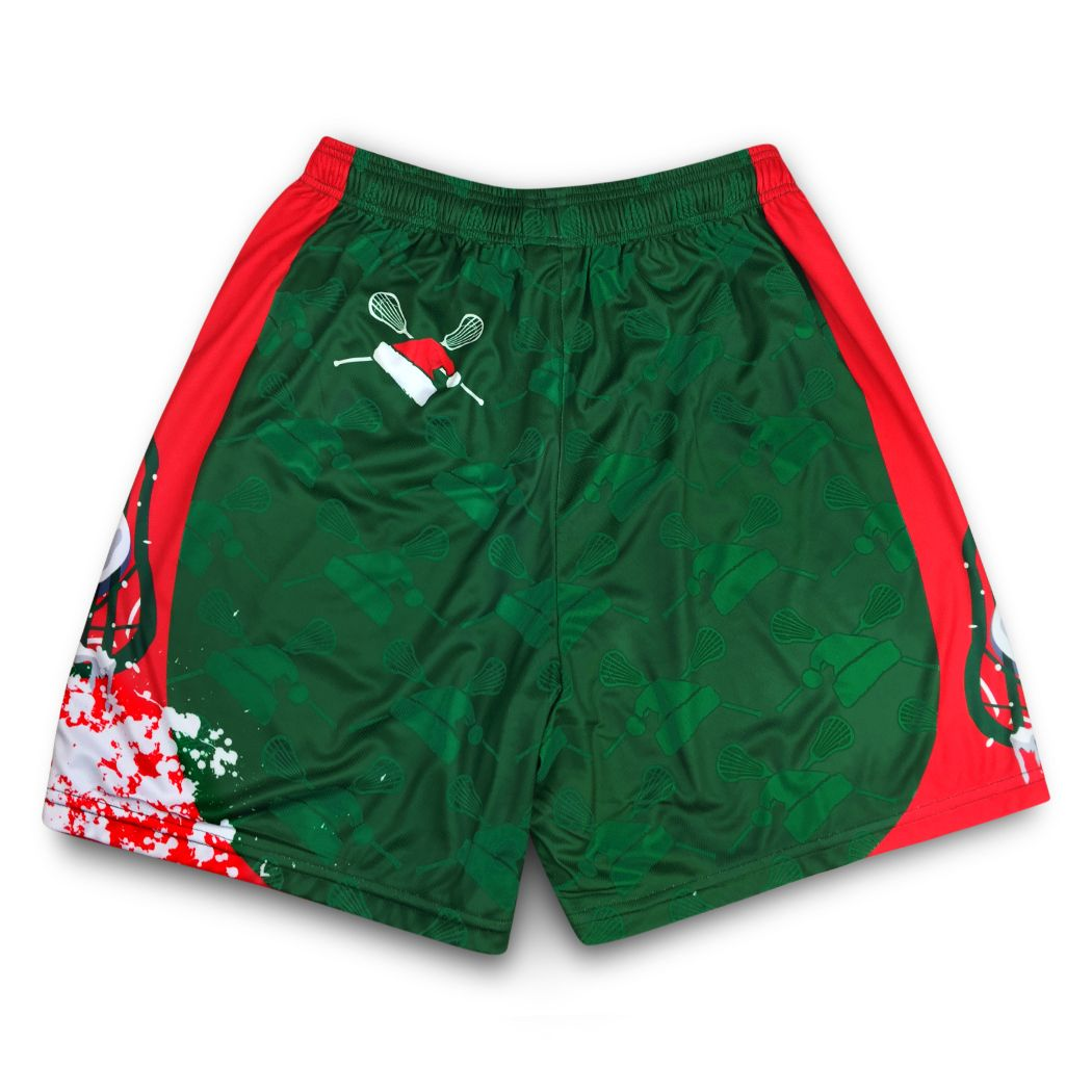 6bcd27773aa74 Lacrosse Christmas Shorts | Santa Laxer | Lacrosse Gift Ideas | Holiday Christmas  Apparel For Lacrosse Players
