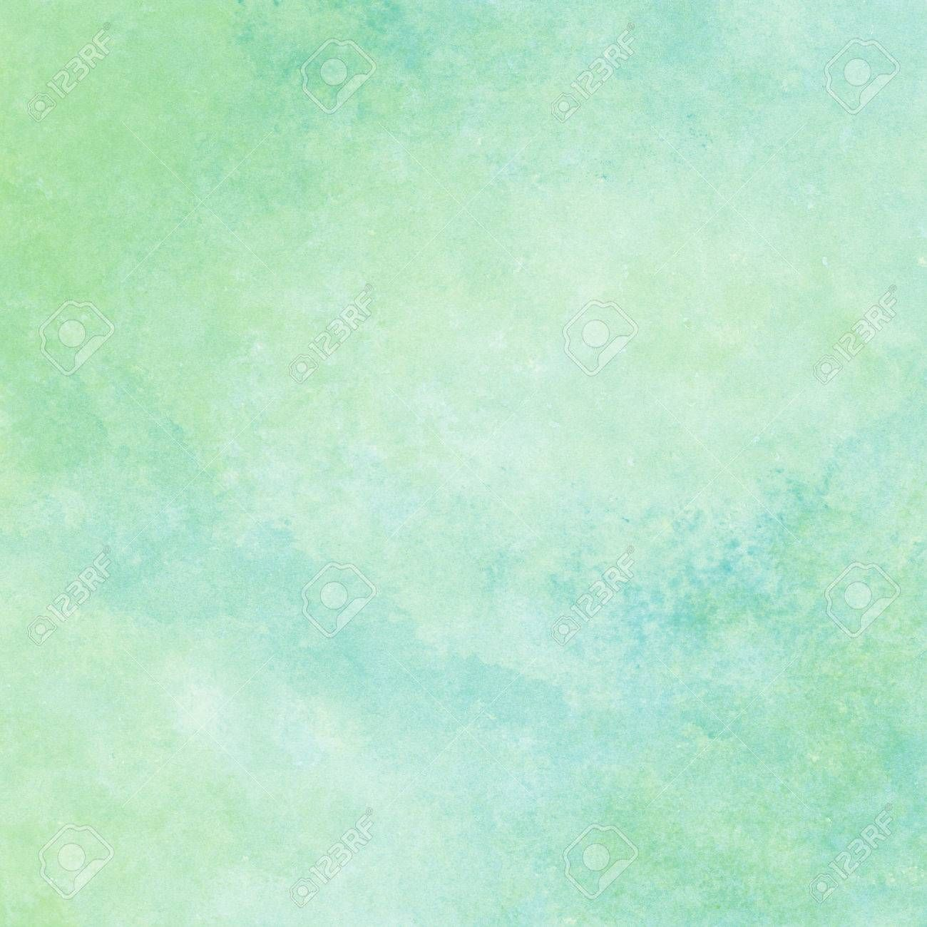Green And Blue Watercolor Texture Background Hand Painted Spon