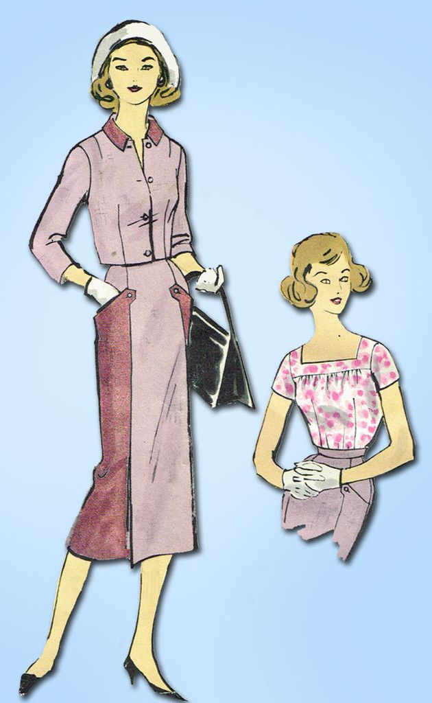 1950s Vintage Vogue Sewing Pattern 1584 Teen Girls 3 Piece Suit Size ...