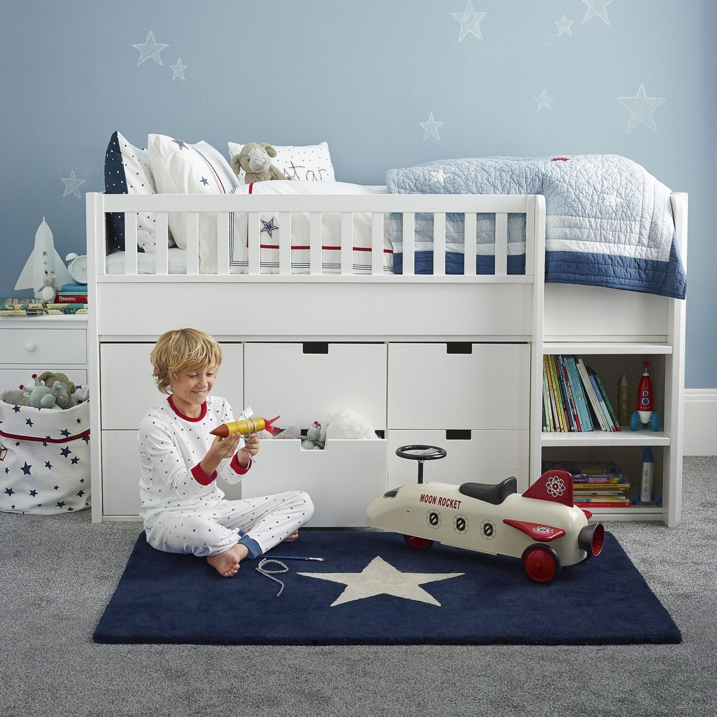Classic Mid Sleeper Bed | The White Company - great for Theo next  Childrens  BedroomKids ...