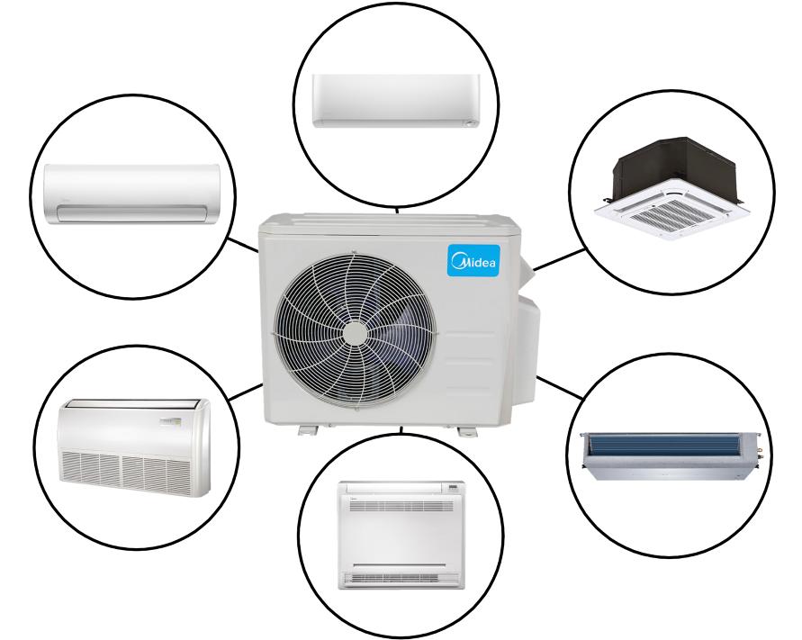 Midea Custom Multi Zone In Minisplitwarehouse Looking For A Midea Custom Multi Zone Air Conditioner Prices Ductless Air Conditioner Electrical Circuit Diagram