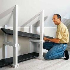 Kniestockregal Stauraum Dachboden Dachzimmer Und